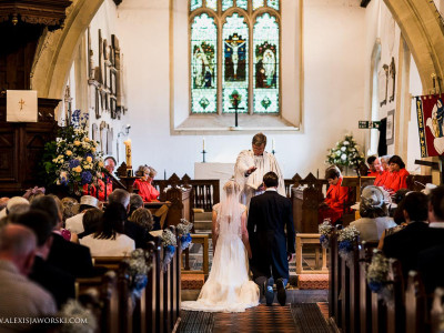Wedding ceremony at St.Peters Church