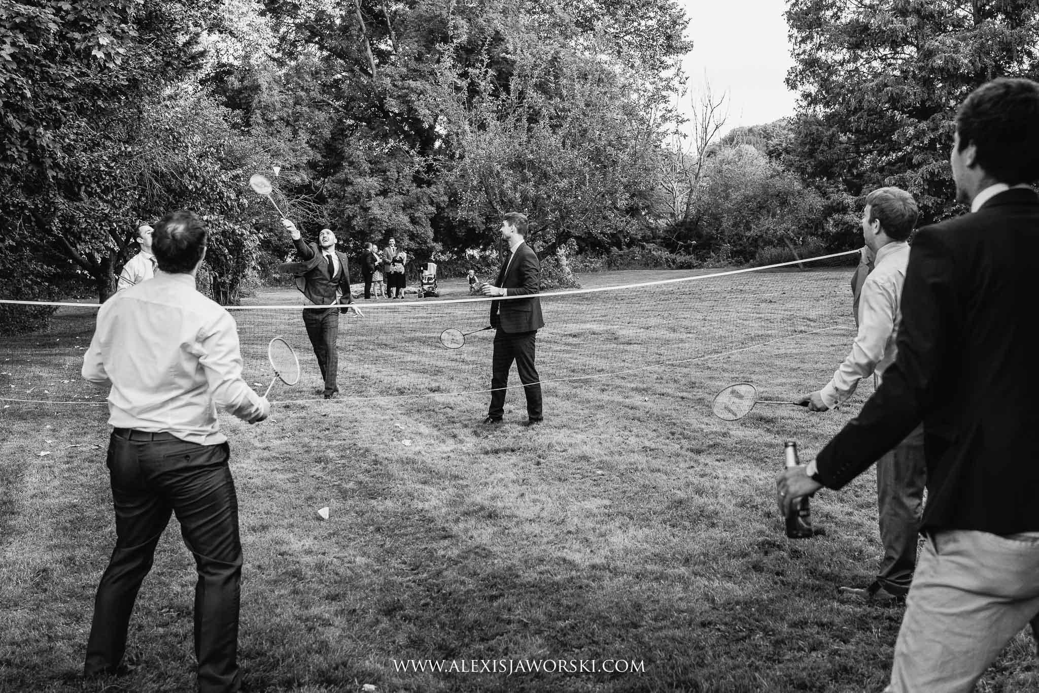 guests playing badmington