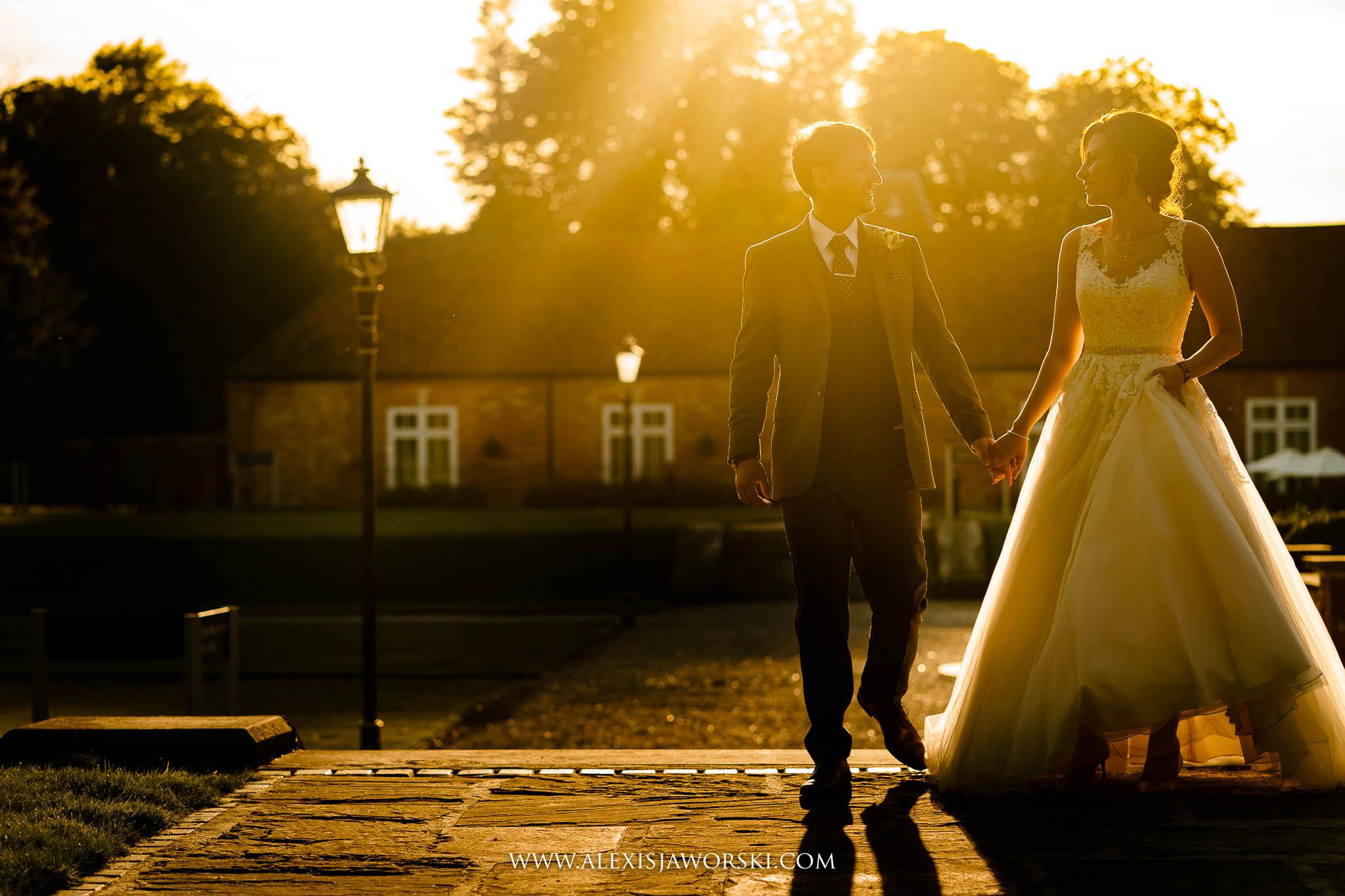 Casual wedding portrai