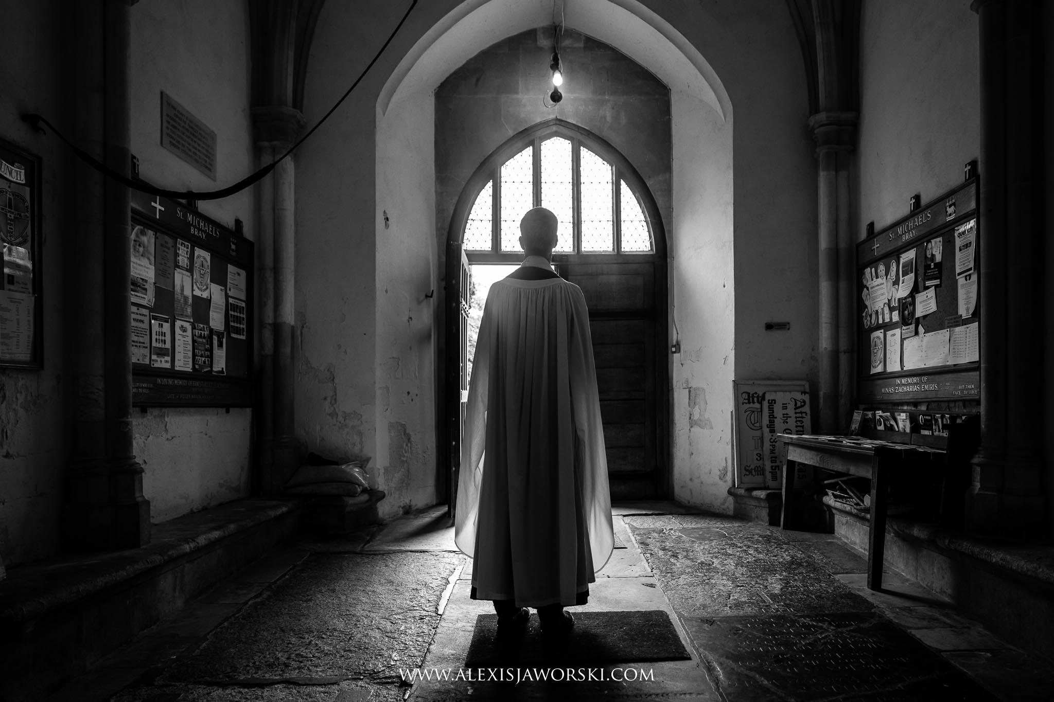 priest waiting