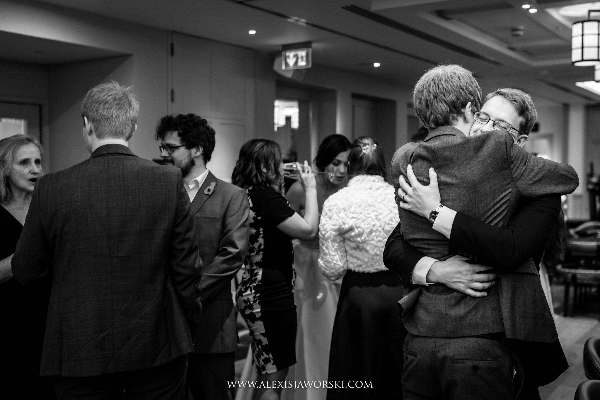 guests hugging