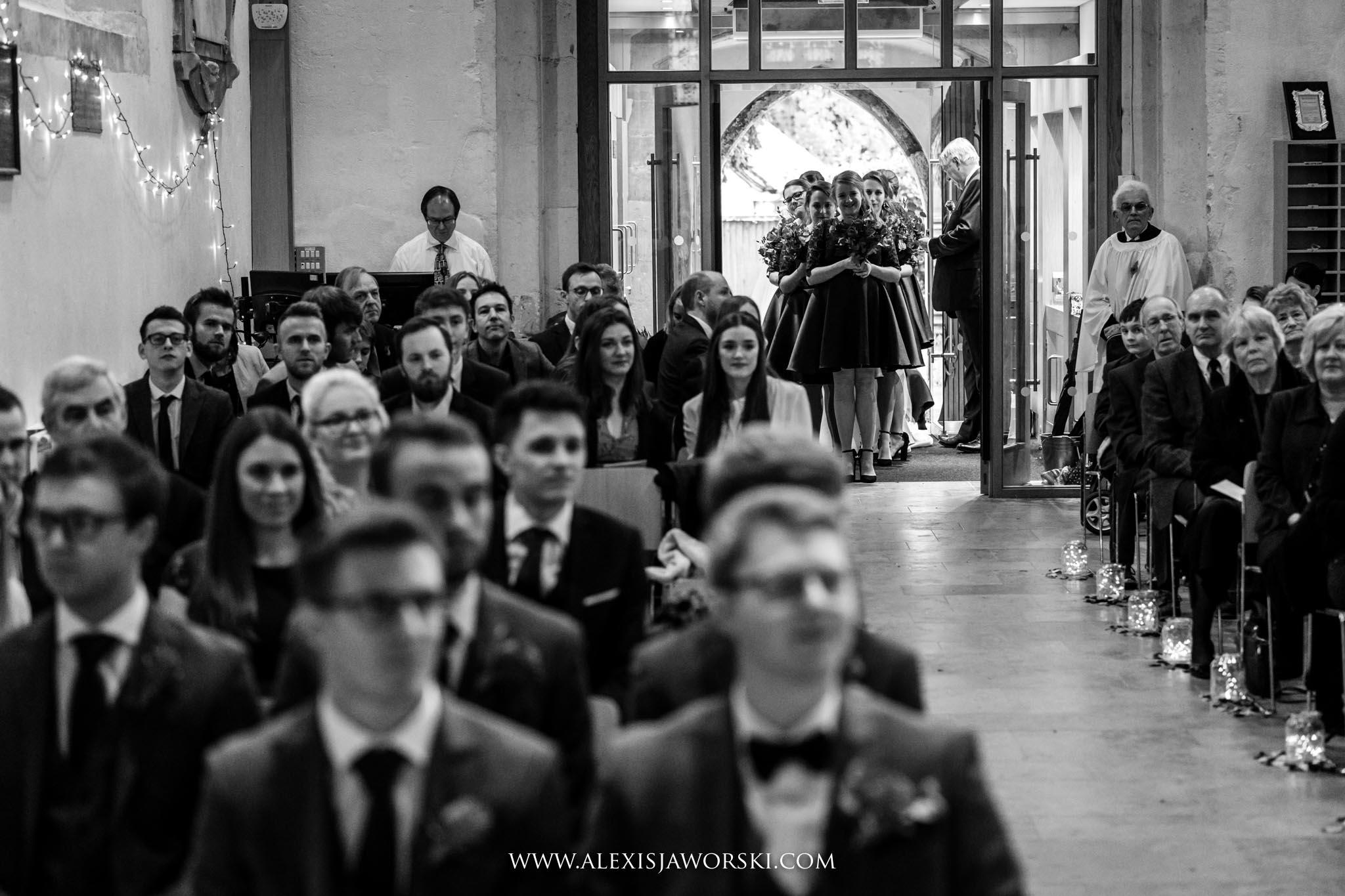 entering the church