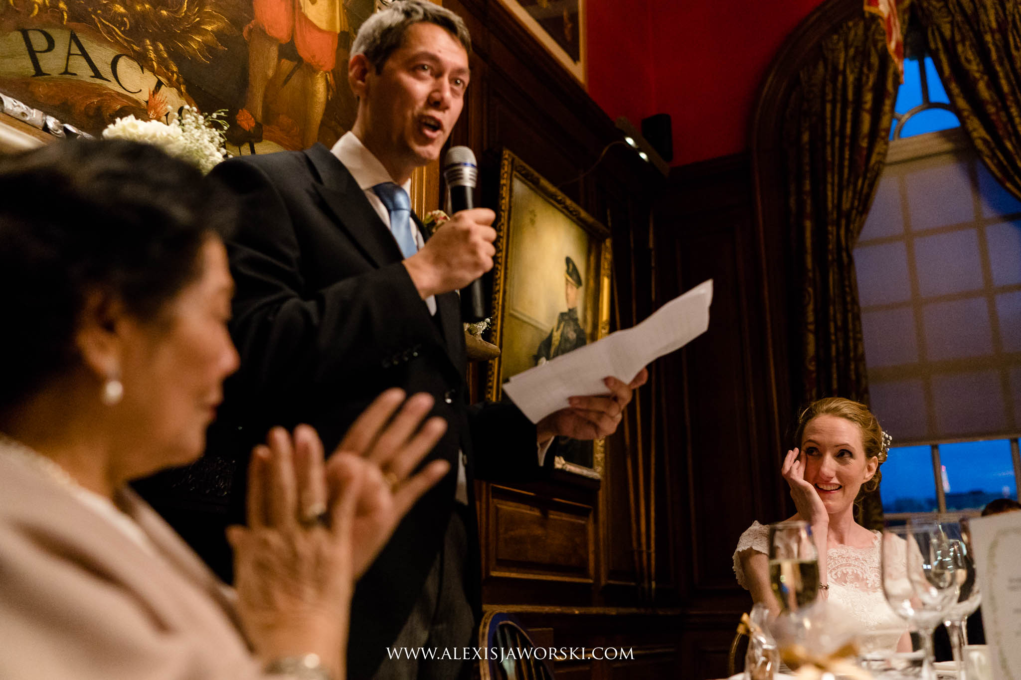 the wedding breakfast and speeches