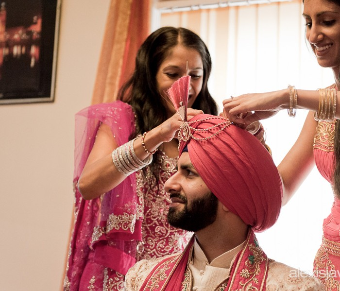 Sikh Wedding Photographer - Cheltenham Racecourse Photography - Harp and Gurj