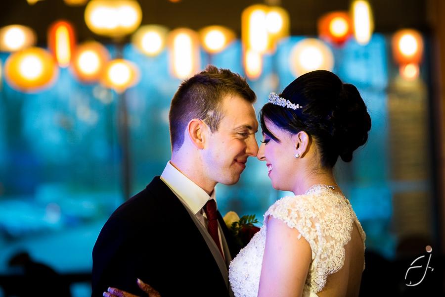 bride and groom portraits at the hilton london heathrow hotel