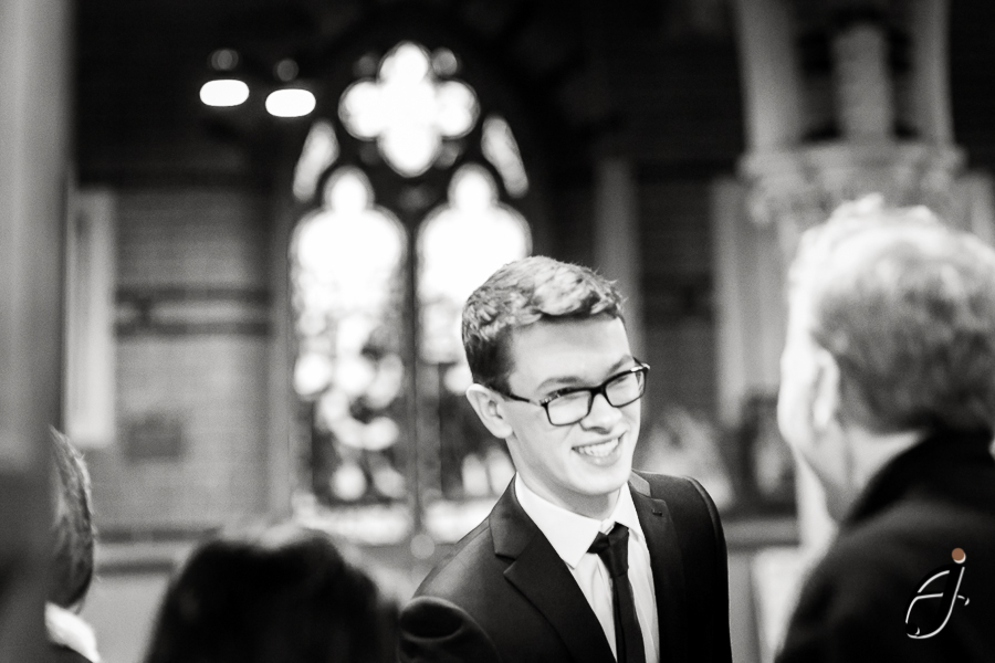 portrait of guest at wedding