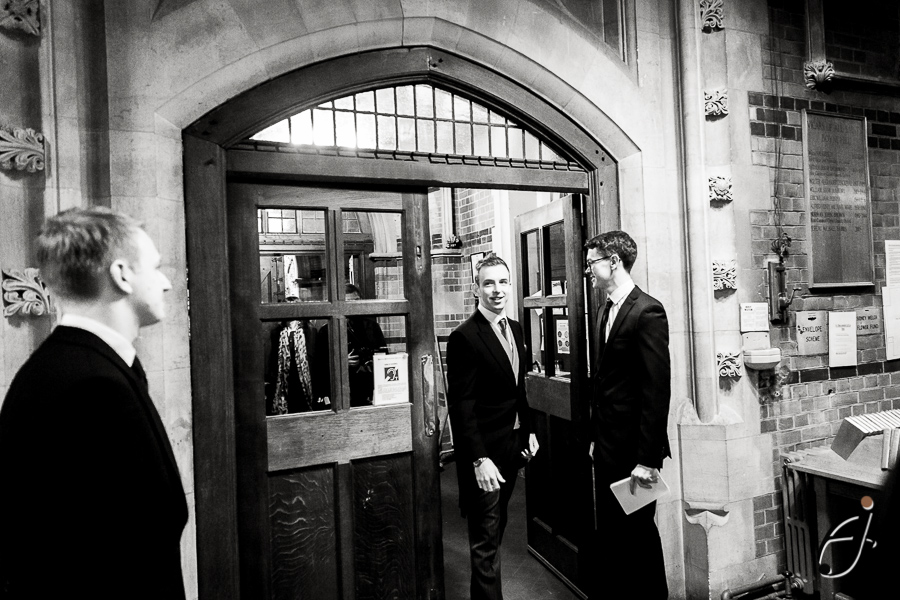 groom arriving at all saints in maidenhead