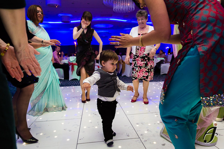 asian dancing at london heathrow hotel