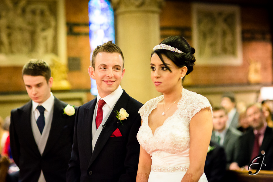 groom and bride at all saints church