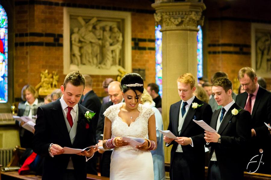 wedding ceremony at all saints church