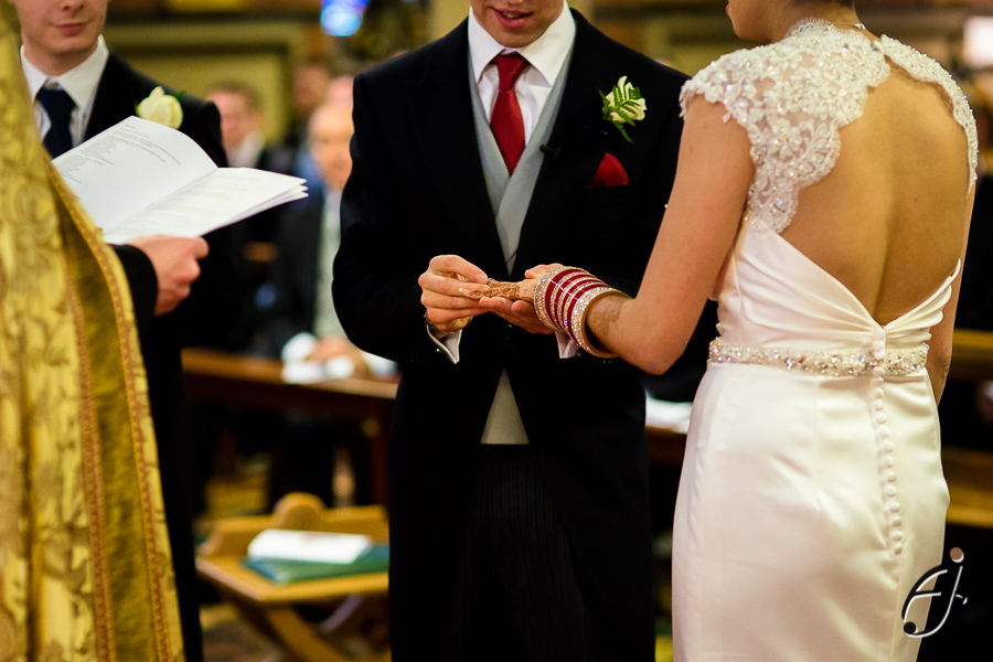 exchange of rings at all saints church