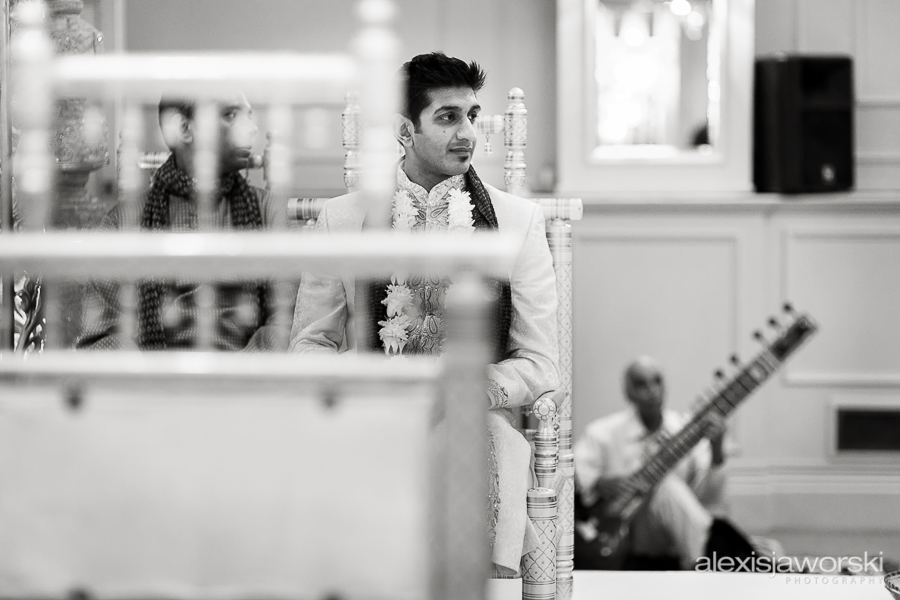 Groom waiting at Hindu Ceremony