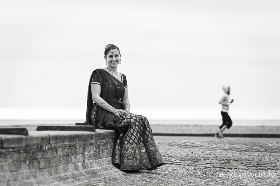 hindu bridal portrait - brighton