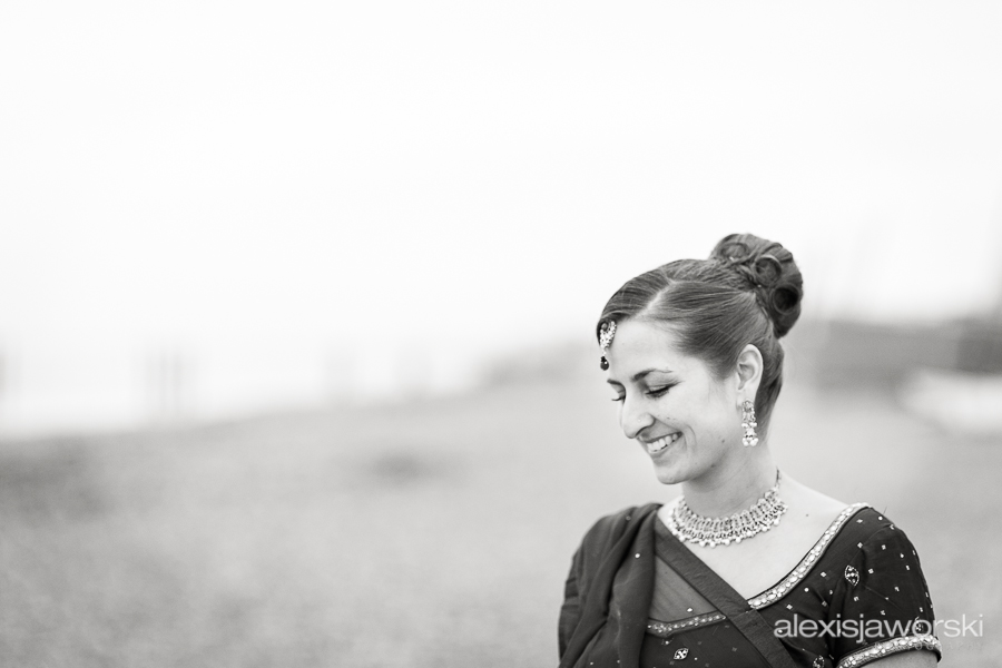 Hindu Bridal Portrait - Back and White