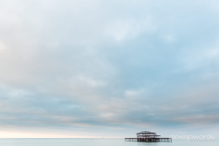 view of brighton at dawn