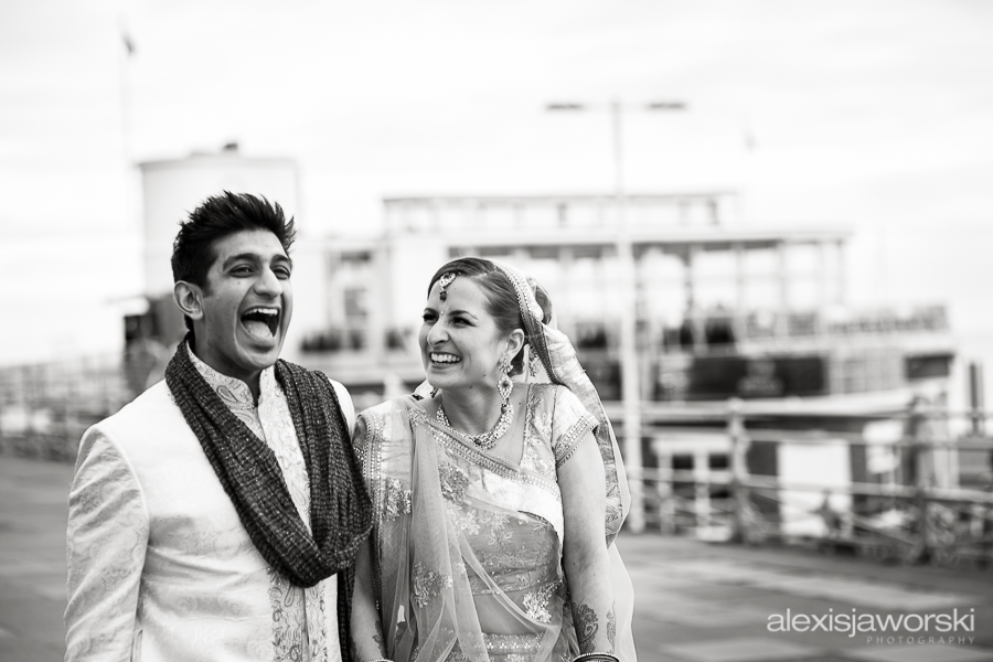 Hindu Brie and Groom portraits in Brighton