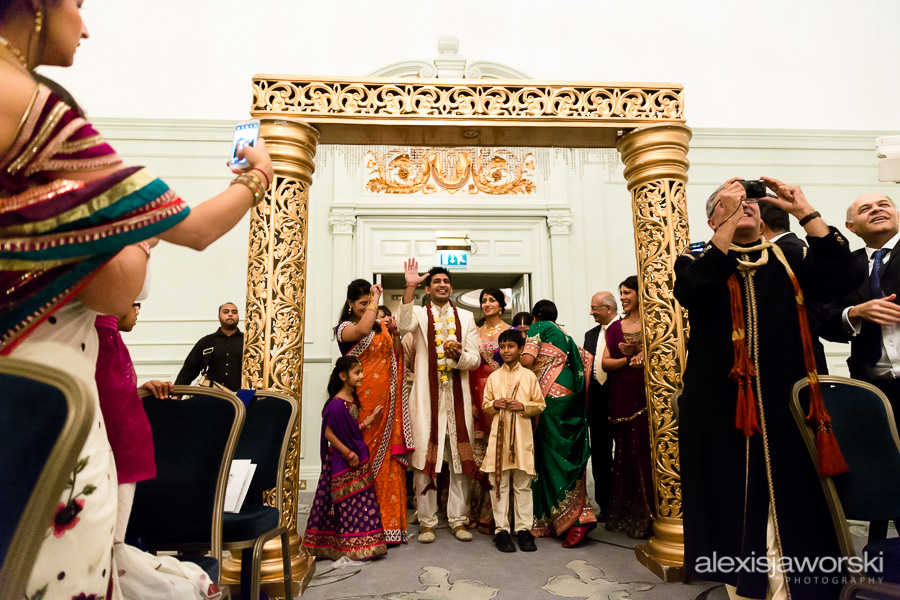 groom at hindu ceremony in brighton