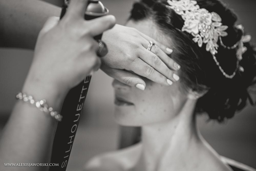 Sheepdrove Eco Centre  bride getting ready