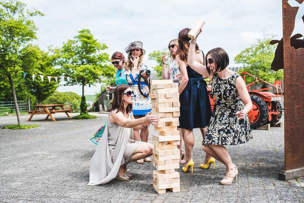 Garden games at Sheepdrove Eco Centre