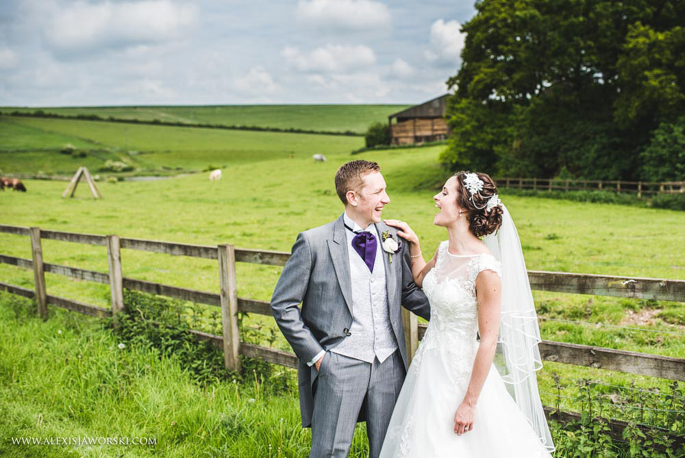 Wedding portraits at Sheepdrove Eco Centre