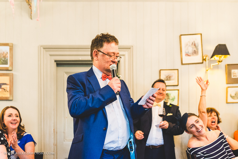 Wedding speeches at the Rosendale