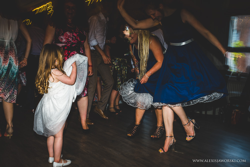 Wedding guests dancing at the Rosendale