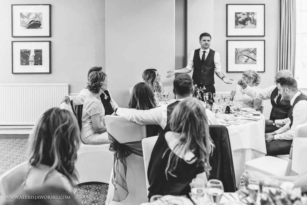 Wedding speeches at Warbrook House