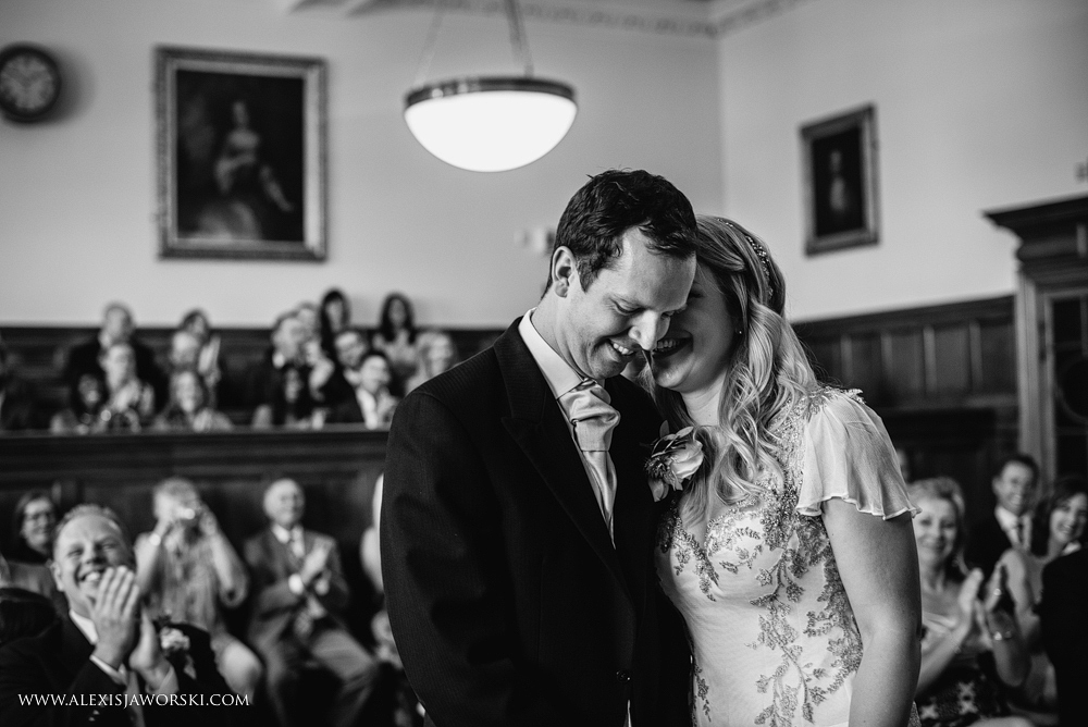Shortly after the first kiss at the Guildhall in Bath