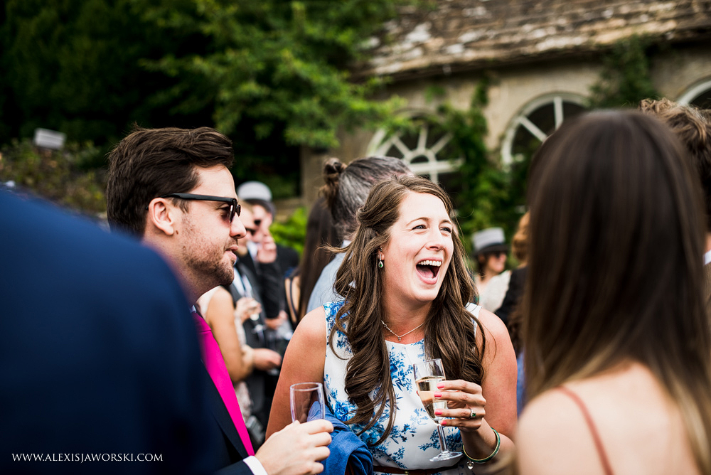 Guests laughing at Hamswell House