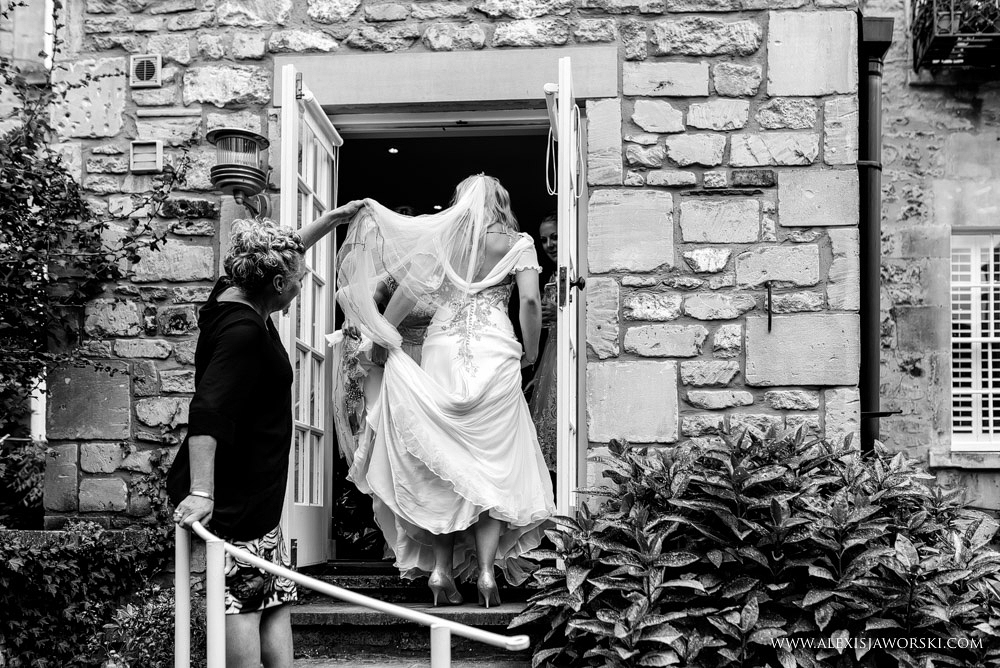 Bath wedding photos - bride dress