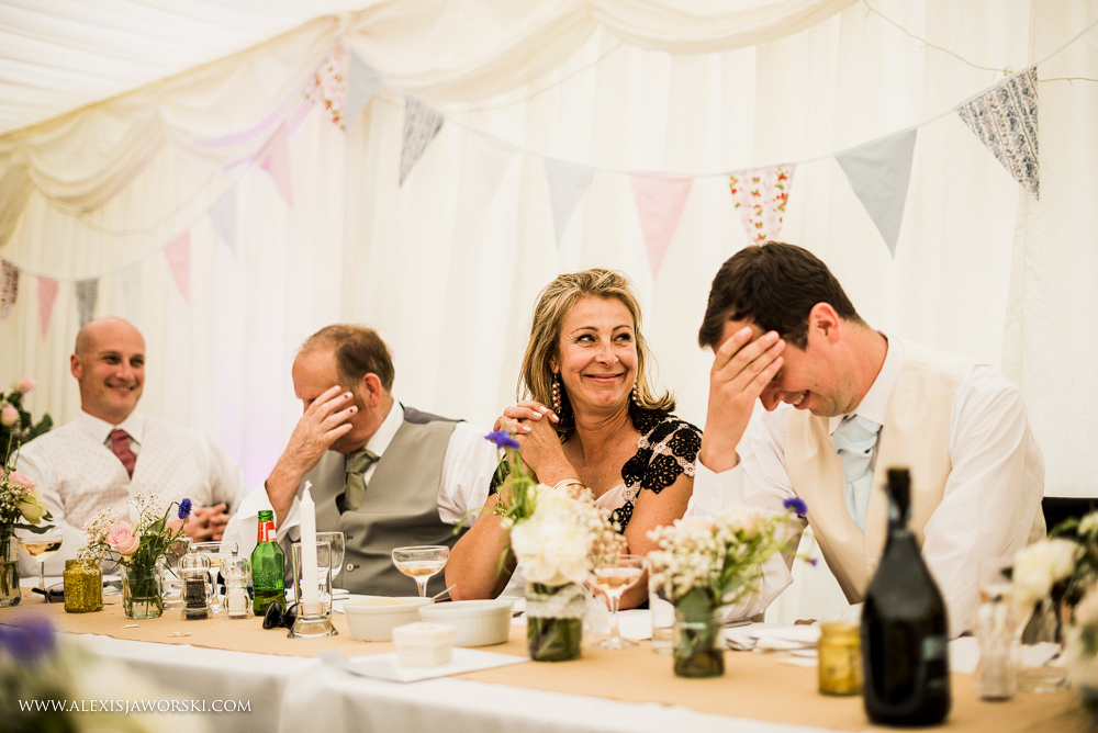 Embarrassed groom at Hamswell House