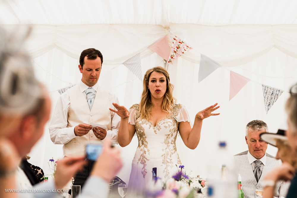Bride speech at at Hamswell House