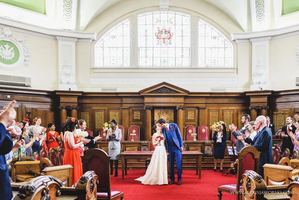 Islington Town Hall wedding photos-57