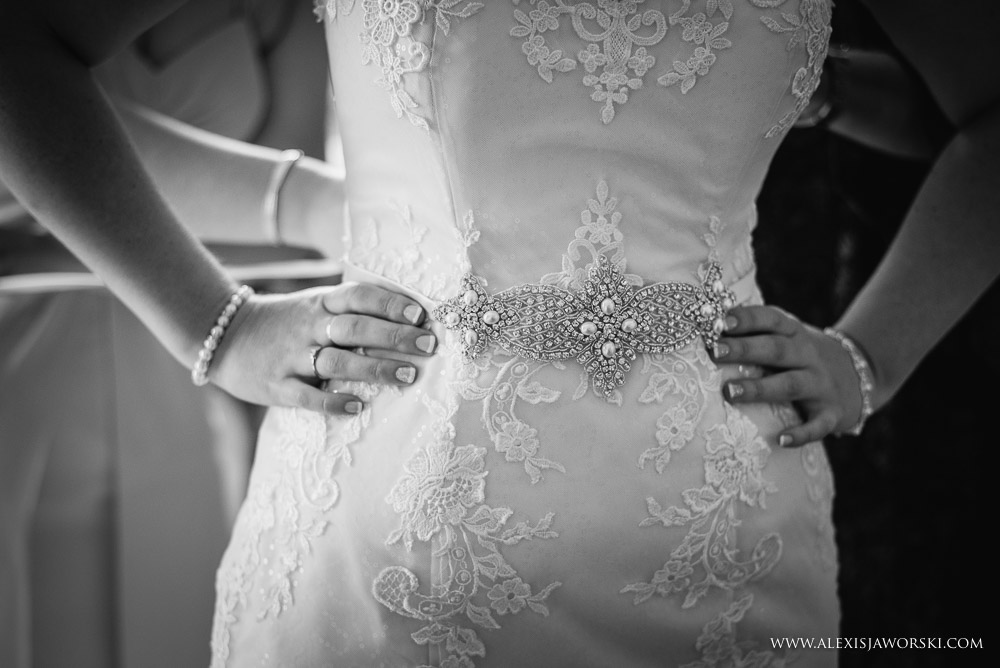 Wedding dress at Brocket Hall