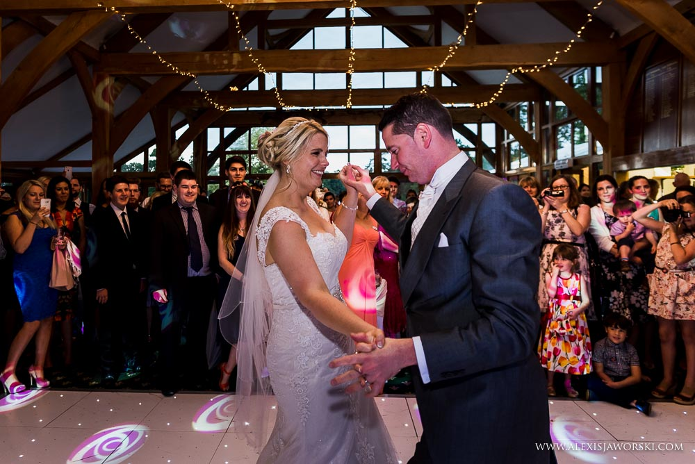 bride and groom first dance at Brocket Hall