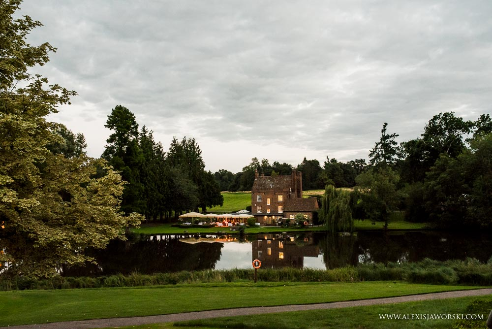 Night venue shot of at Brocket Hall
