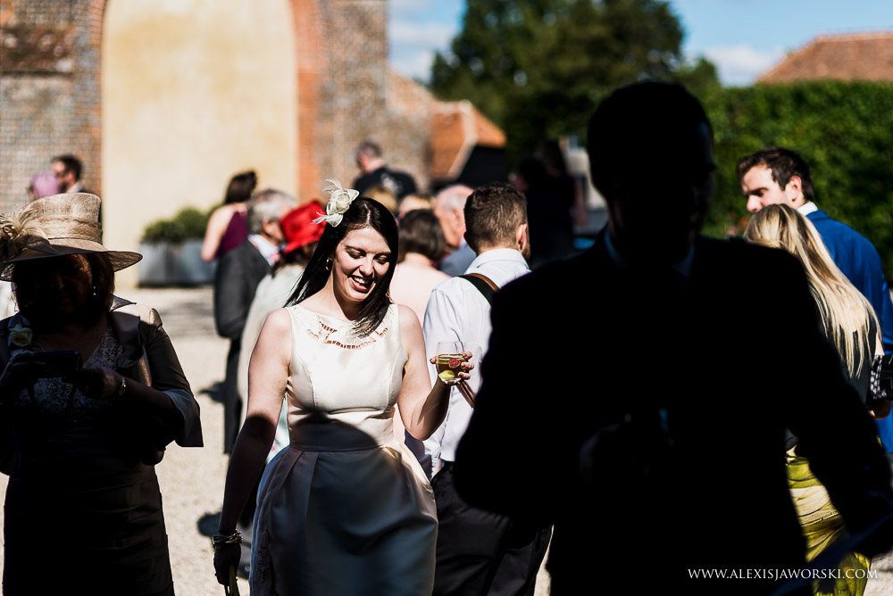 Lovely light on guests at wedding