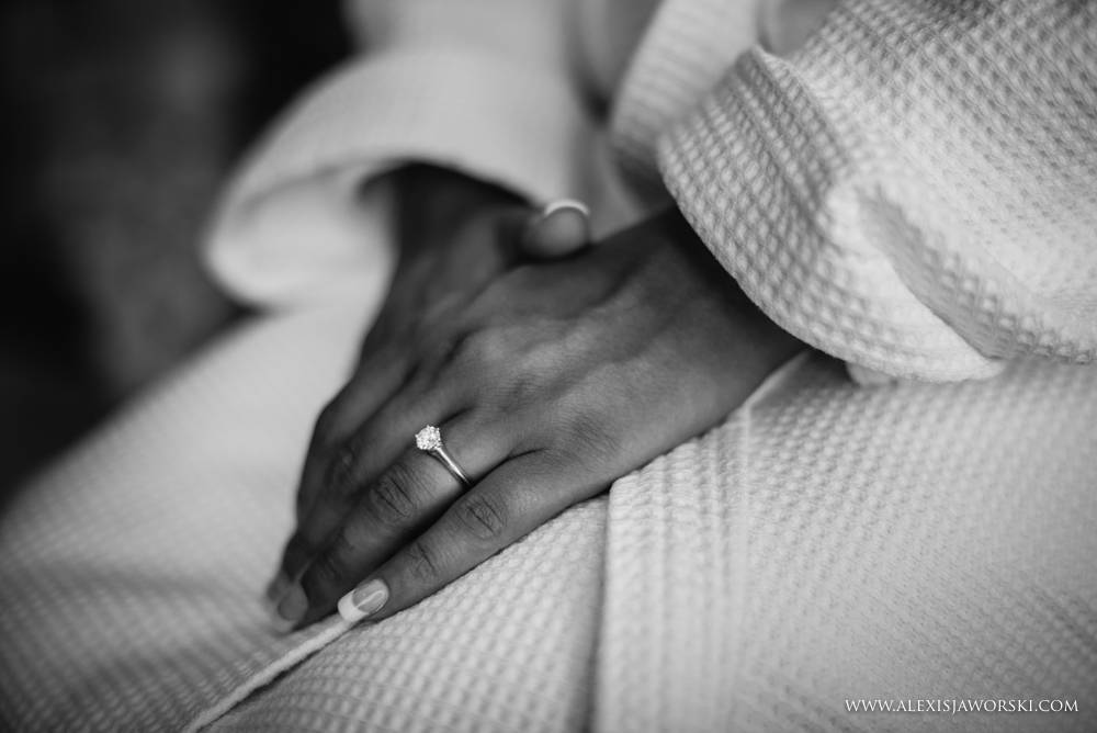 Picture of the bride hands