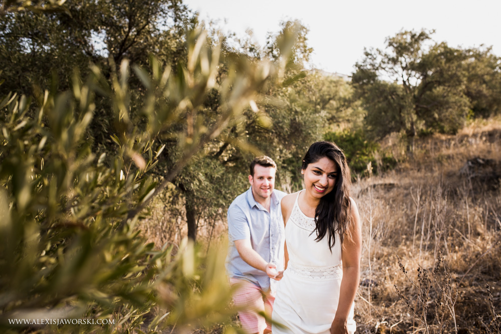Bride and groom casual portrait