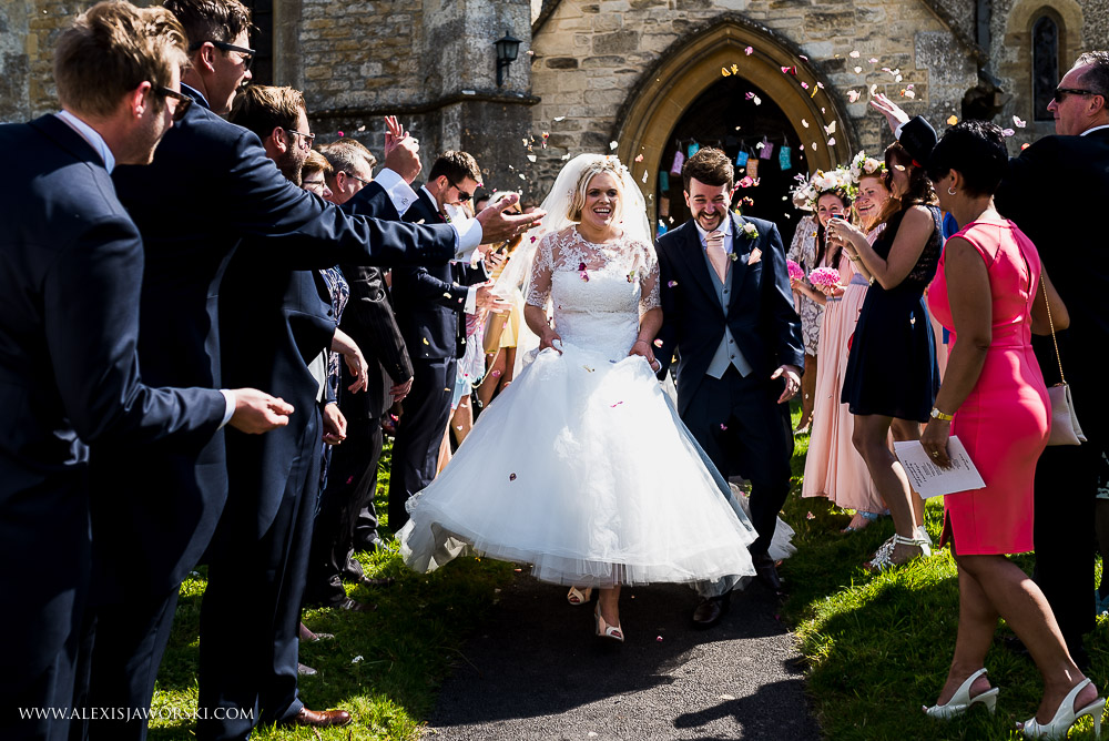 Confetti shot at Ardington House
