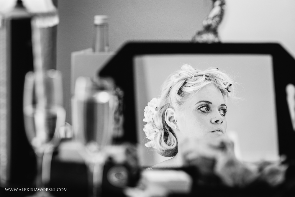 Bride getting ready at Ardington House