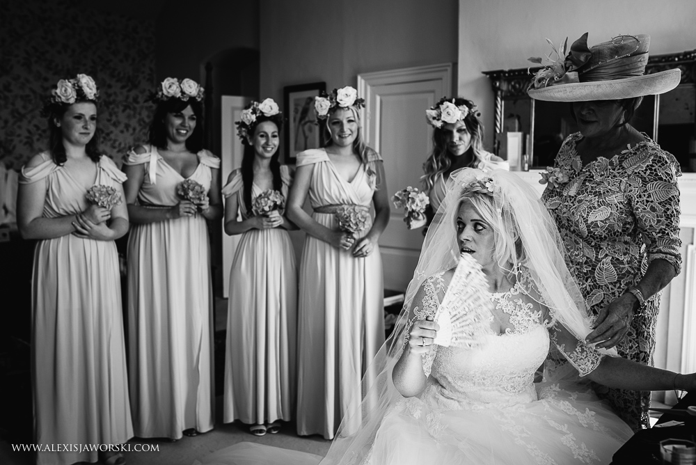 Bridesmaids and bride at Ardington House