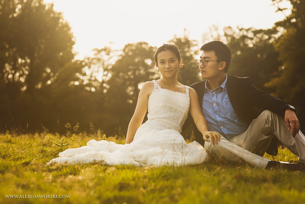 Chinses couple portrait sitting down