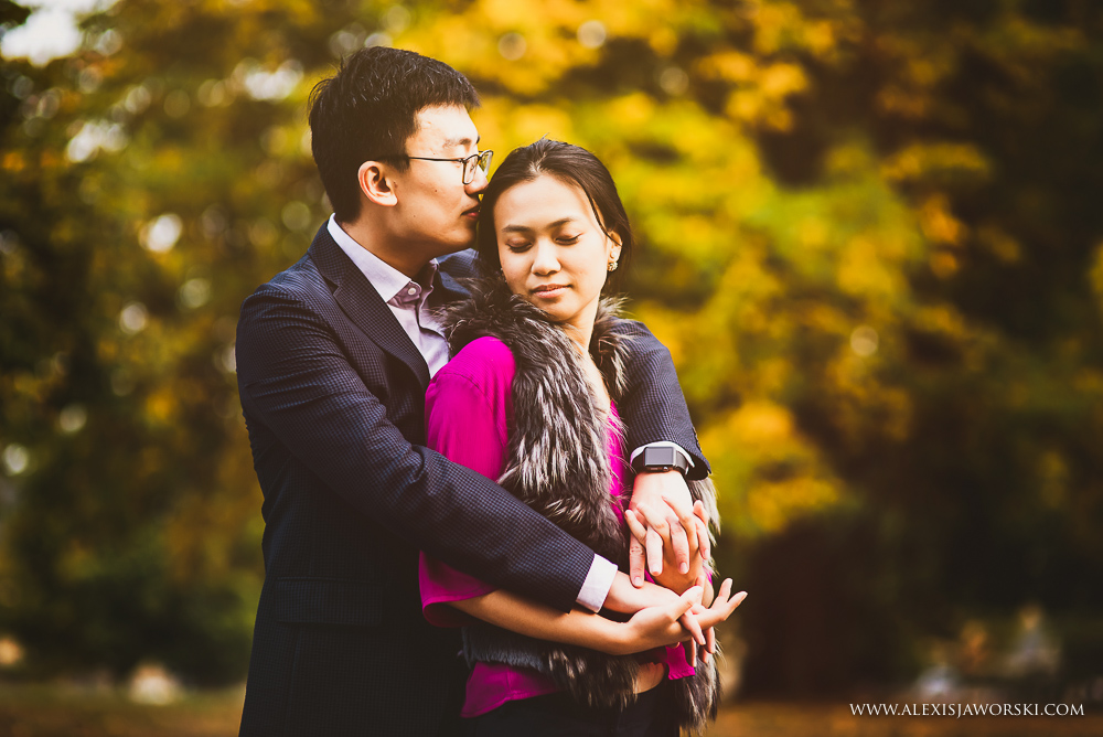 Gorgeous autumn portrait of couple