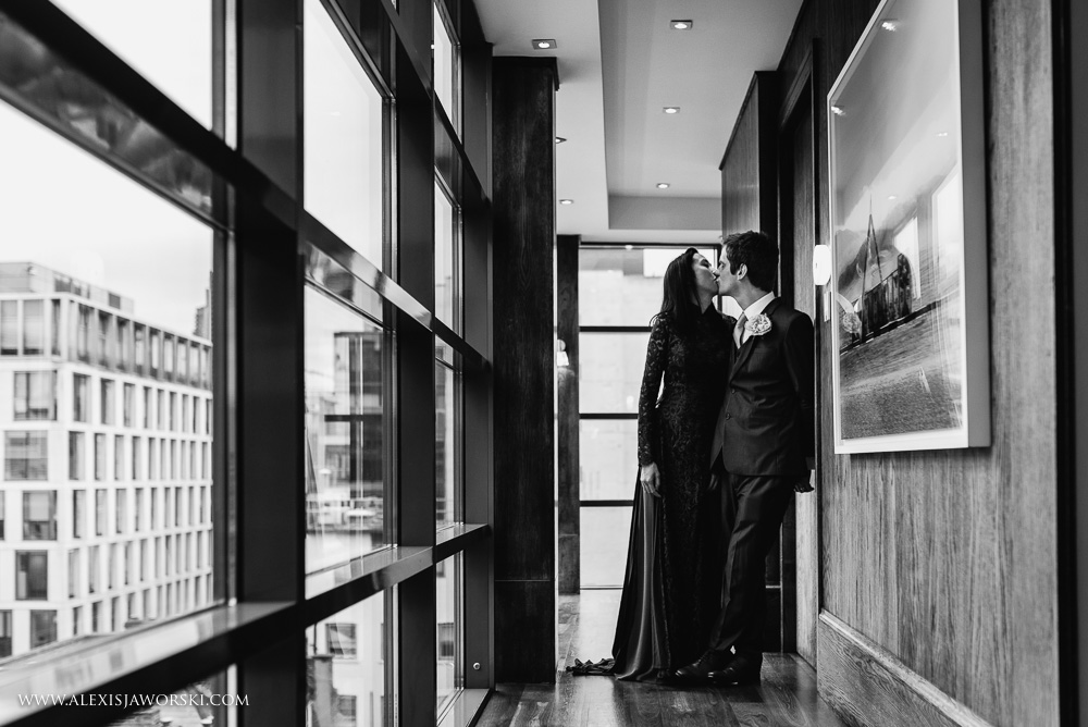 bride an groom portrait at 8 club moorgate