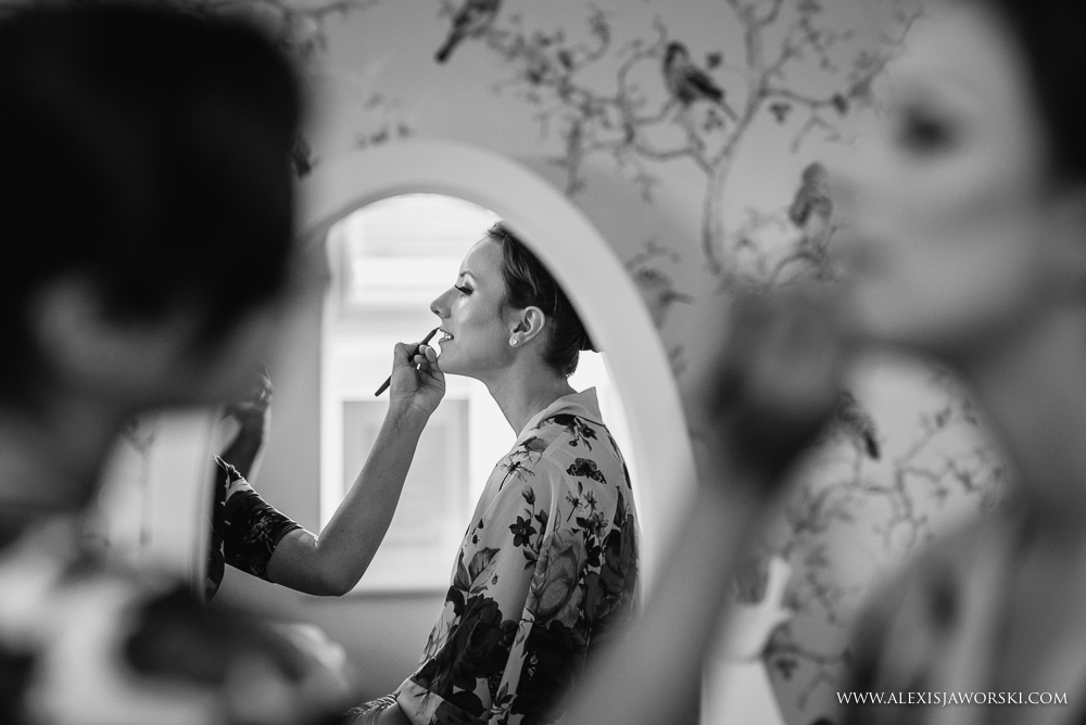 Bride getting ready in Leicester