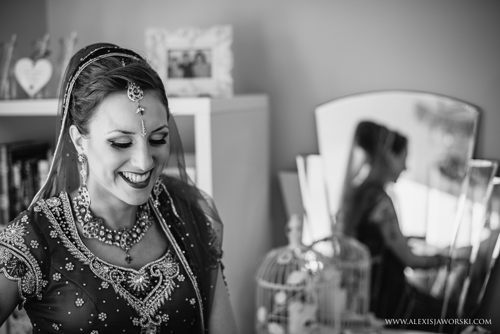 bridal preparations for Sikh wedding