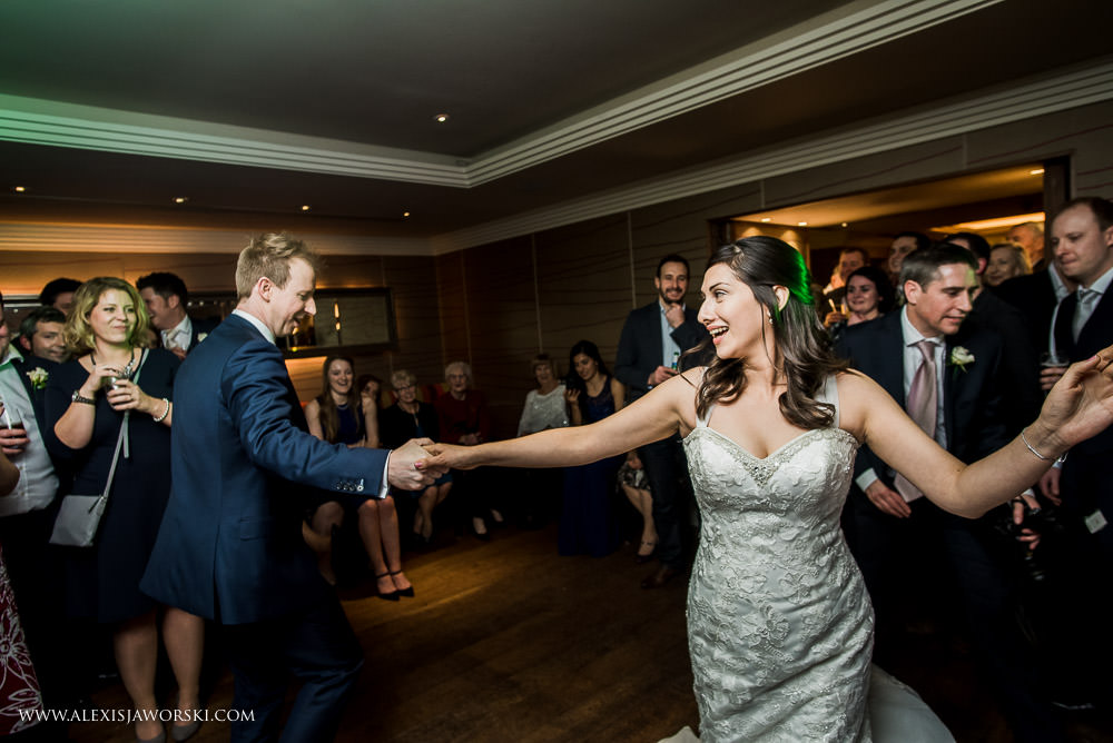 Salsa dancing for bride and groom's first dance