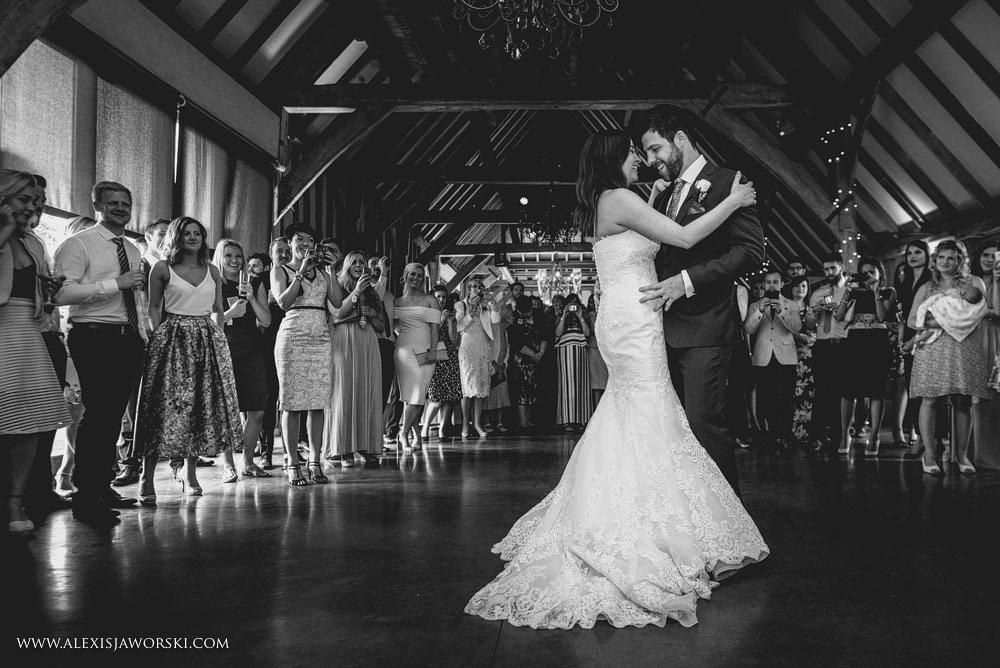bride and groom enjoying a dance