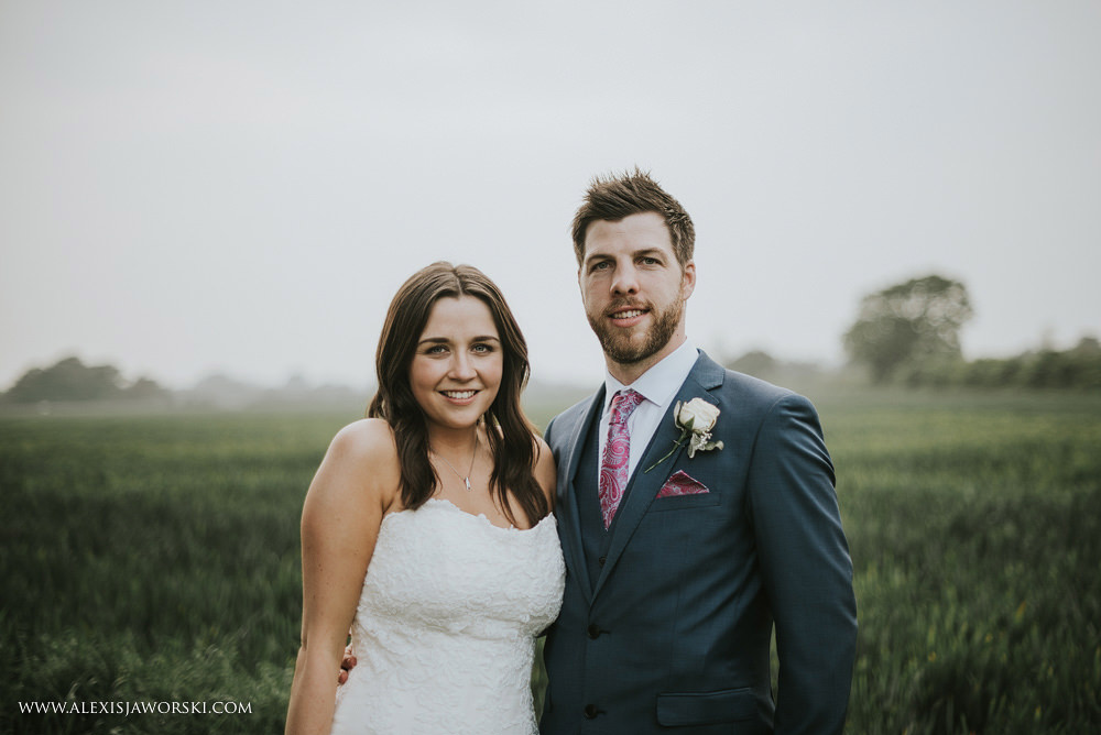 simple bride and groom portrait